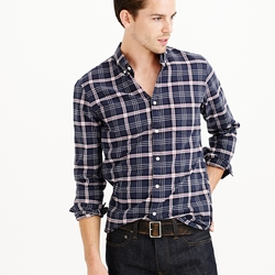 J.Crew - Vintage Oxford Shirt In Coal Plaid