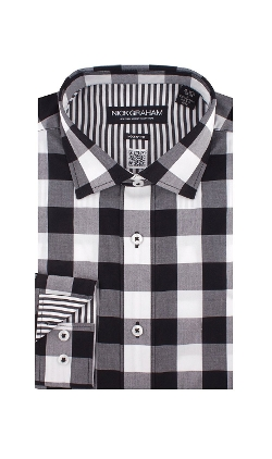Nick Graham - Big Check Spread Collar Shirt