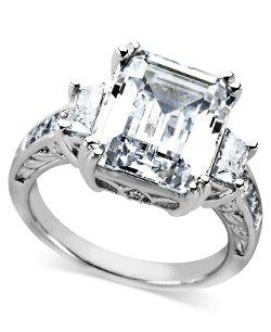 Arabella  - Sterling Silver Ring, Swarovski Zirconia Ring