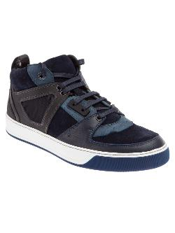 LANVIN  - panelled mid-top sneaker