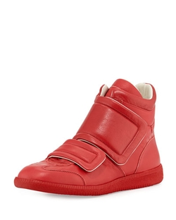 Maison Margiela - Clinic Two-Strap High-Top Sneakers
