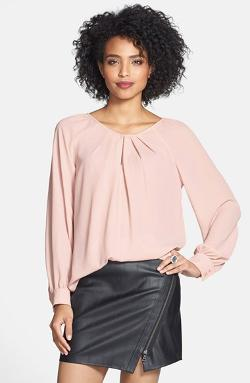 Bellatrix - Pleat Neck Long Sleeve Blouse