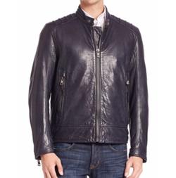 Andrew Marc - Long Sleeve Leather Jacket
