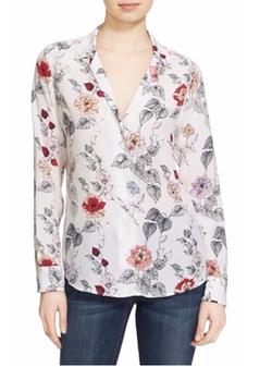 Equipment - Adalyn Floral Print Silk Shirt