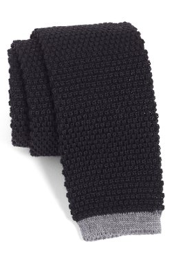 Todd Snyder White  - Label Knit Wool Tie