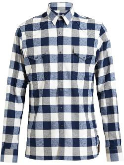 Lanvin  - Checked Western Cotton Shirt
