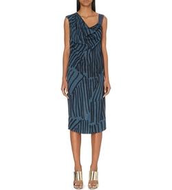 Anglomania - Heritage Abstract-Print Crepe Dress