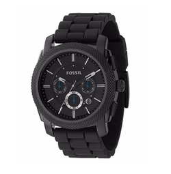 Fossil - Chronograph Machine Silicone Strap Watch
