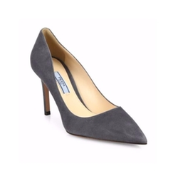 Prada  - Suede Point-Toe Pumps