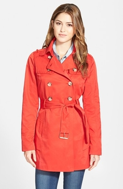 Guess - Tiered Double Breasted Trench Coat