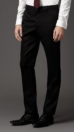 Burberry - MODERN FIT WOOL TWILL TROUSERS