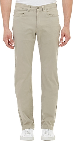 Piattelli - Brushed Five-Pocket Chino Pants