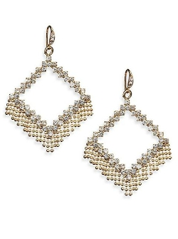 ABS by Allen Schwartz Jewelry - Geometric Fringe Drop Earrings