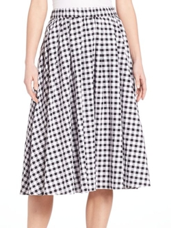 Michael Michael Kors  - Gingham Check Skirt