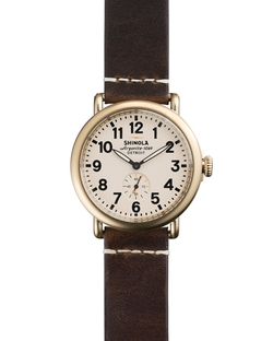 Shinola - Cream Dial Leather Strap Watch