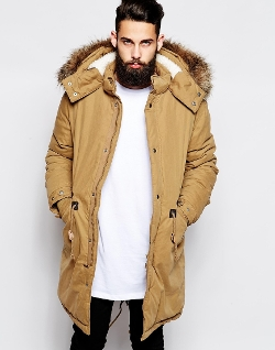 Asos - Fishtail Parka With Thinsulate