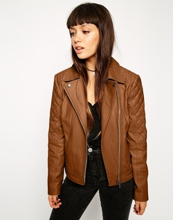 Asos  - Leather Biker Jacket