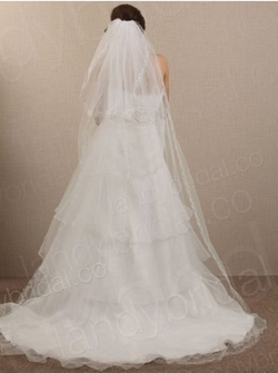 Cocomelody - Three Layer Chapel Train Bridal Wedding Veil