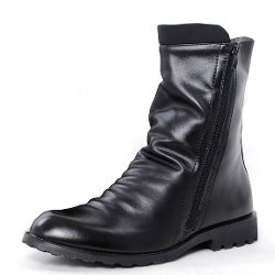 G-small  - Zipper Wrinkle Casual Martin Boot