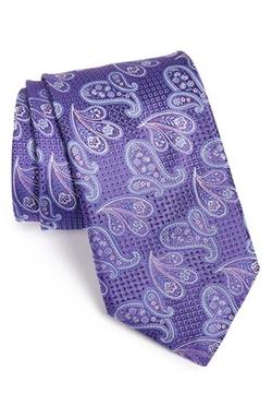 Canali  - Paisley Silk Tie