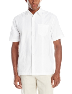 Cubavera - Seersucker Short Sleeve Woven Shirt