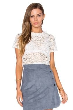 Lucy Paris - Lace Frilling Top