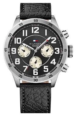 Tommy Hilfiger  - Multifunction Leather Strap Watch