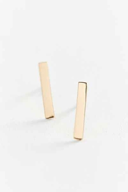Urban Outfitters - Upper Metal Class Gold Bar Earring