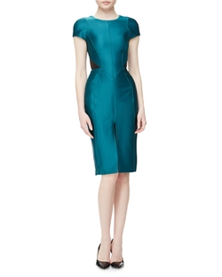 J Mendel  - Cap Sleeve Dress