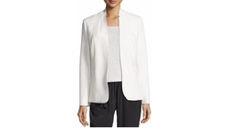 Elie Tahari - Danette Notched-Collar Stretch Blazer Jacket, Winter White