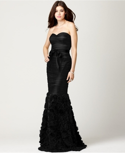 Js Collections - Strapless Belted Mermaid Gown