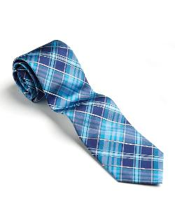 Perry Ellis  - Classic Fit Wainscott Silk Plaid Tie