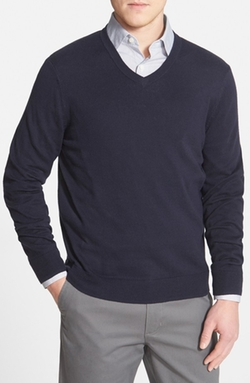 John W. Nordstrom - Cotton Blend V-Neck Sweater
