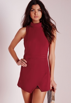 Missguided - Roll Neck Skort Playsuit