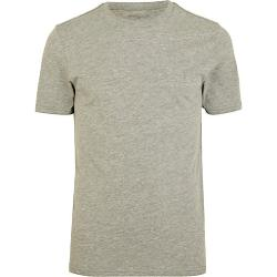 River Island - Grey Marl Crew Neck T-Shirt