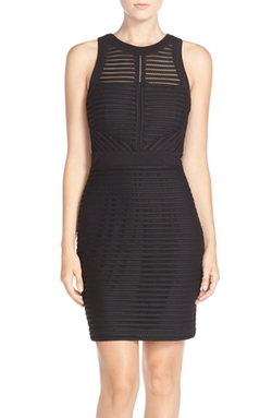 Adelyn Rae - Illusion Mesh Body-Con Dress