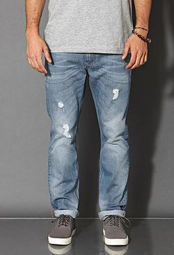 Forever 21 - Slim Fit- Distressed Light Wash