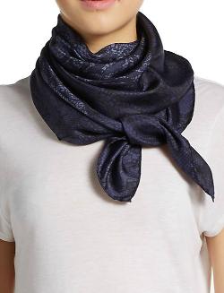 Valentino  - Lace Print Silk Scarf