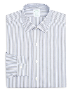 Brooks Brothers  - Twin Stripe Regular Fit Button Down Shirt
