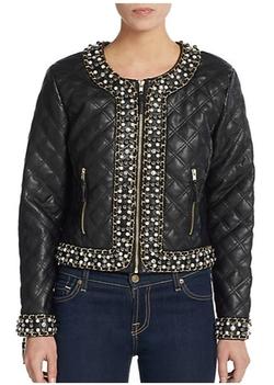 Saks Fifth Avenue BLACK  - Quilted Embellished Jacket