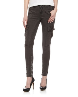Fade to Blue  - Twill Skinny Cargo Pants