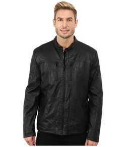 Kenneth Cole - Reaction Sherpa Lined Faux Leather Coat