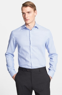 Armani Collezioni - Slim Fit Microcheck Dress Shirt