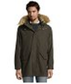 Cole Haan - Olive Water-Resistant 2 In 1 Hooded Anorak Jacket