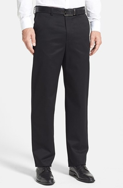 Nordstrom  - Smartcare Relaxed Fit Flat Front Cotton Pants
