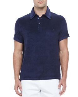Vilebrequin  - Short-Sleeve Terry Polo, Navy