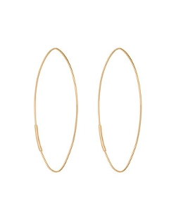 Lana  - Straight Magic Large Hoop Earrings