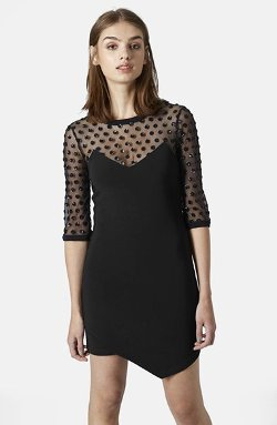 Topshop  - Mesh Body-Con Dress