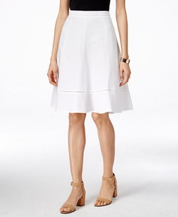 NY Collection  - Linen A-Line Skirt