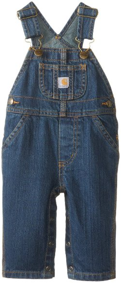 Carhartt - Baby-Boys Washed Denim Bib Overall